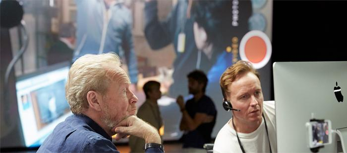 Ridley Scott with 1.24.14 director, son Jake Scott