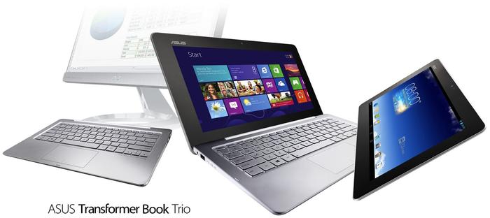 The ASUS Transformer Book Trio runs both Windows 8 and Android.