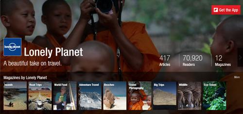 Inside a Flipboard magazine on the Web