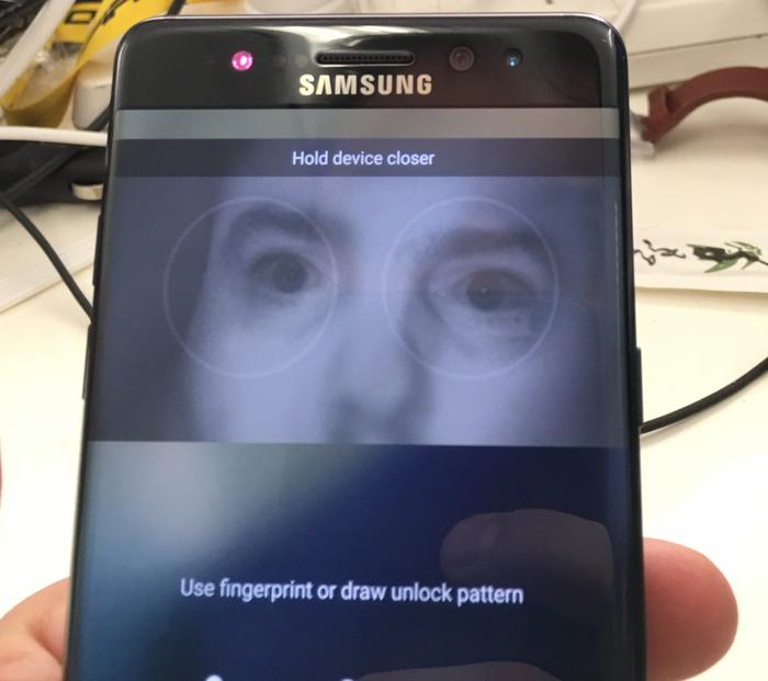 Seeing your tortured soul staring back at you from within Samsung's Note 7 can be eerie and unsettling.
