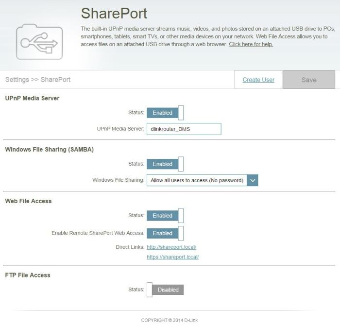 SharePort allows you to plug in a hard drive to access its contents over your local network and remotely via the SharePoint mobile app.
