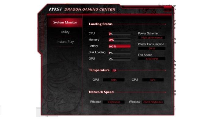 The Dragon Gaming Centre utility.