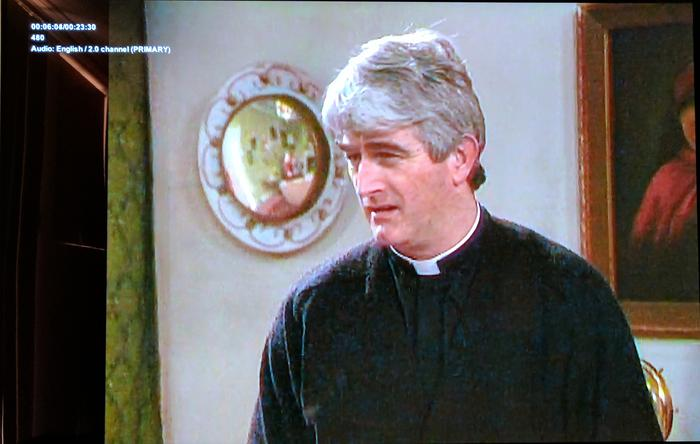 Father Ted, in it's appalling 480p digitisation, is very pixelated and lines are still jaggy, but it's watchable and so passes a tricky test.