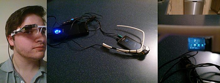Flass 5.0 prototype -- a Google Glass, glasses-free frame.