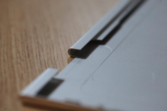 In this closeup of the lid for the Spectre x360, you can see the milling that went into the laptop's design.