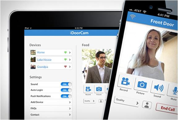 The iDoorCam is initially compatible with iPhone and iPad devices, but an Android app is coming soon.