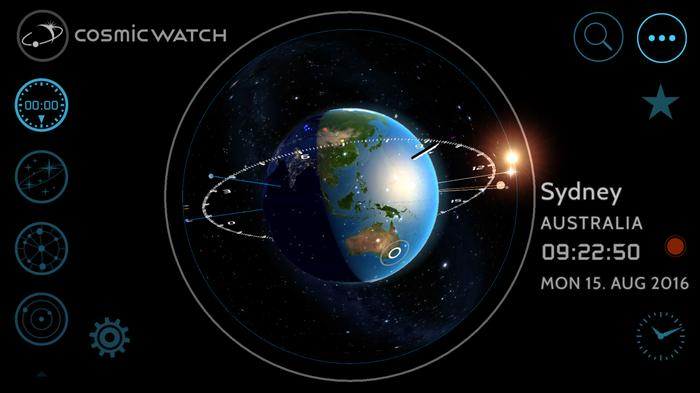 See where you are in relation to The Earth, The Sun, neighbouring planets and the stars.