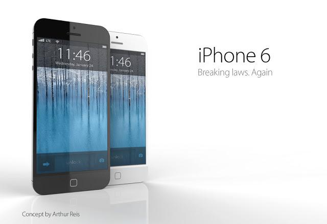 A concept design of the iPhone 6. (Image credit: Arthur Reis)