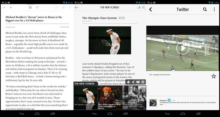 Some Android apps work perfectly well on the Nexus 7, but others are simply blown up smartphone apps.