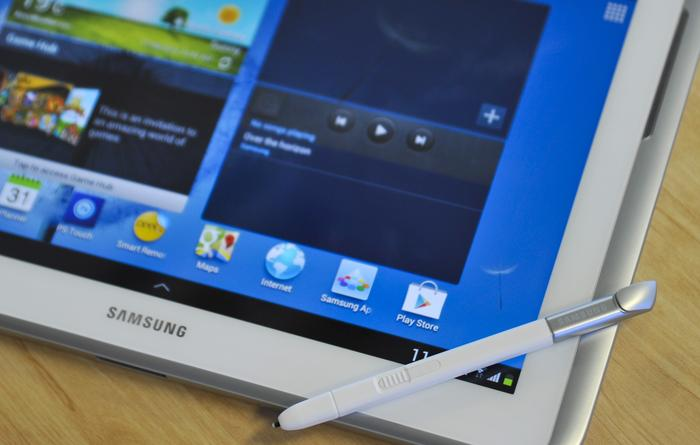 The Samsung Galaxy Note 10.1 can't display the same super crisp text as higher resolution screens.