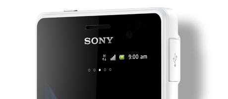 The Xperia go measures less than 10mm thick and Sony says it proves that rugged phones