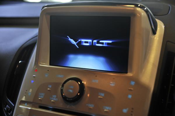 The Volt's 7in touchscreen infotainment system in the centre console.