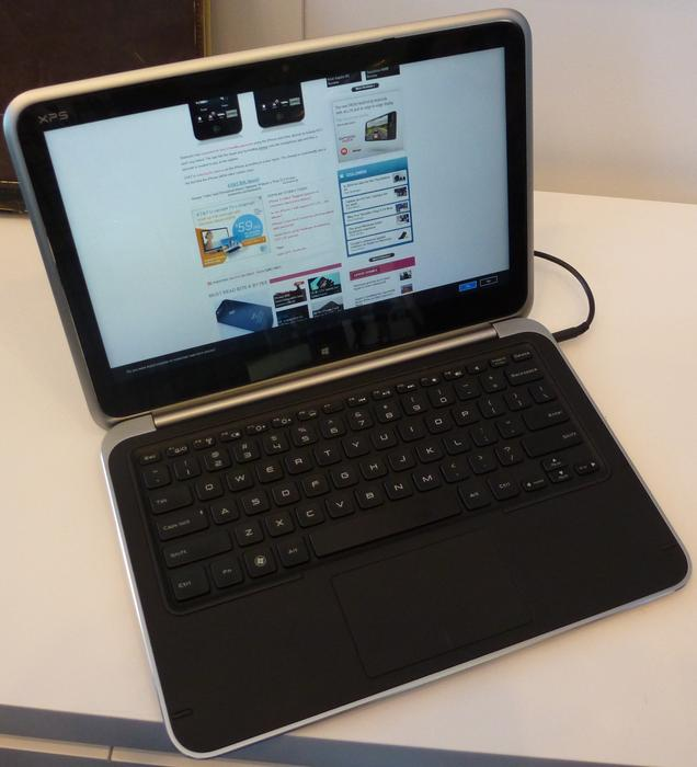 Dell's XPS 12 Duo Looks like a regular laptop.
