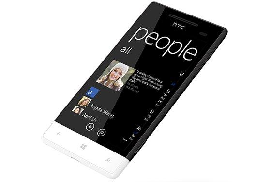 The HTC Windows Phone 8S lacks a front-facing camera.
