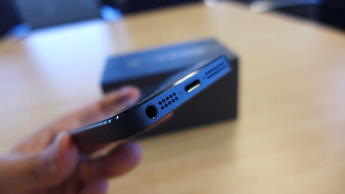 The iPhone 5 has a new 8-pin dock connector that Apple calls 'Lightning'.