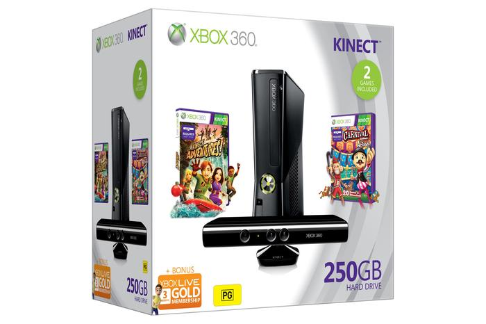 The 250GB Xbox 360 with Kinect bundle drops $50 in price to $399.