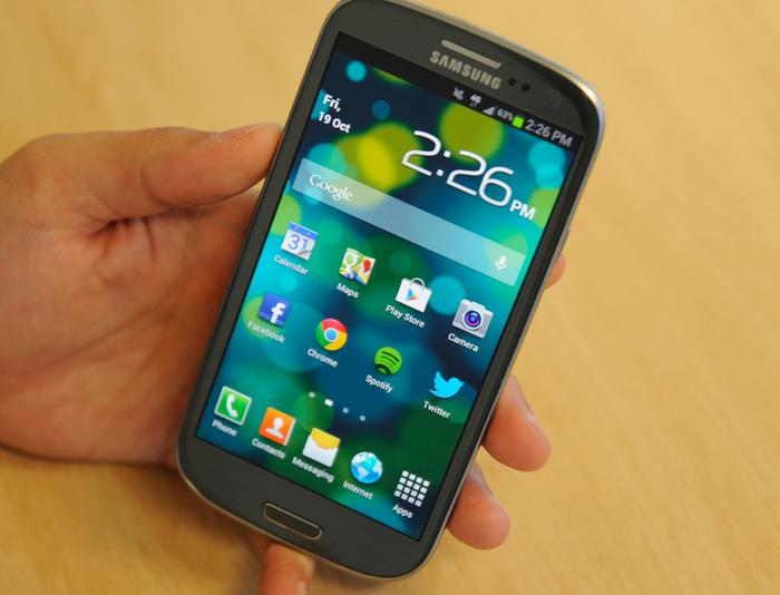 The Galaxy S III 4G is virtually identical in design to the regular, 3G version.
