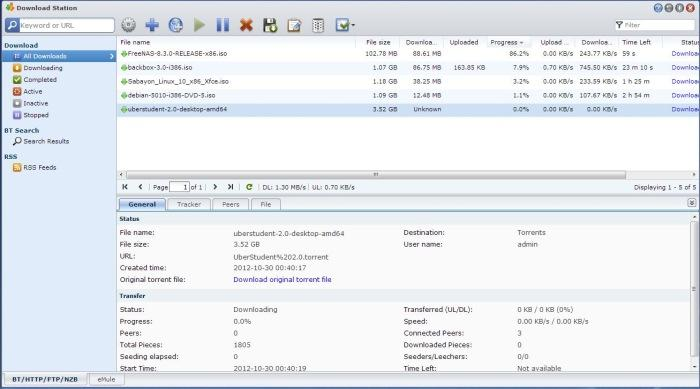 Using the built-in download manager to conduct and store torrent downloads independently of a PC.