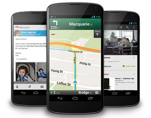 The Google Nexus 4 runs the latest version of Android, 4.2 'Jelly Bean'.
