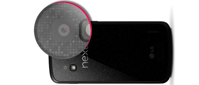 One of Google's distinctive touches is the glass back of the Nexus 4, which has a holographic, etched pattern.