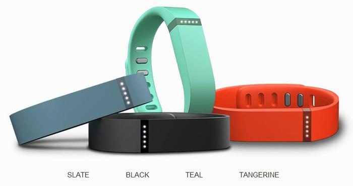The Fitbit Flex will be available in five colours including black, slate, teal, tangerine and navy.