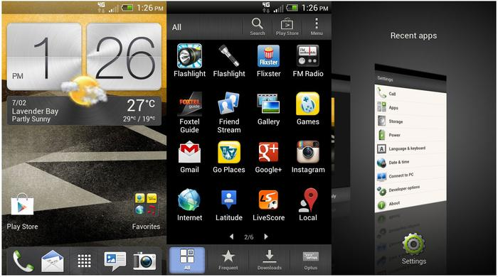 The HTC One SV runs Google's 4.0 Ice Cream Sandwich software and once again features HTC's Sense UI overlay.