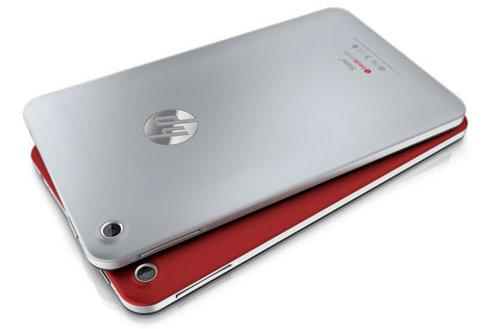 "The ""soft black paint"" finish on the back of the Slate 7 is available in grey or red variants."