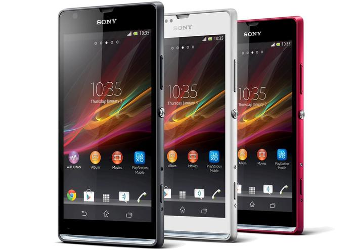 The key design feature of the Xperia SP is a transparent panel below the screen.