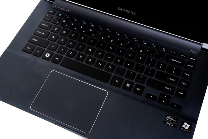 A huge touchpad and a good keyboard make the Series 9 comfortable to use.