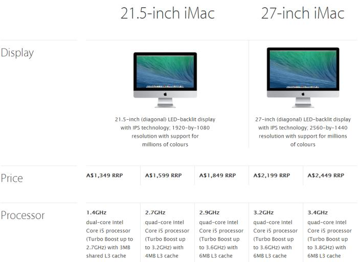 Apple now offers a cheaper iMac.