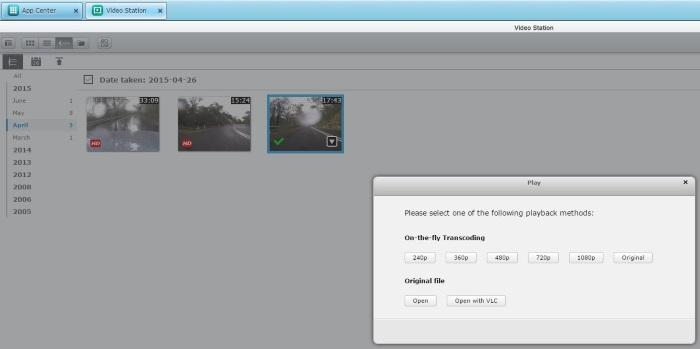 Video files can be played back on the NAS itself, and on-the-fly transcoding is available.