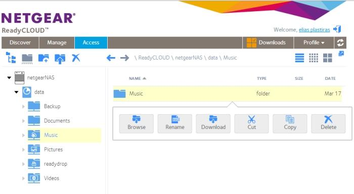 You can access files easily over the Web via a browser, as long as you have properly configured the Cloud features.