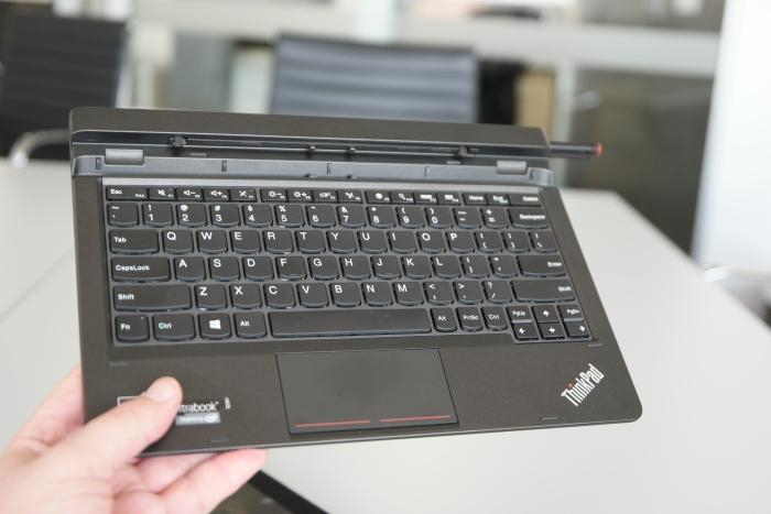 The ThinkPad Ultrabook Keyboard base contains keys that are enjoyable to hit.
