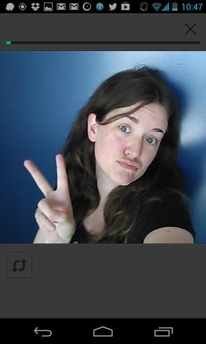 Look, Ma, front camera support! Because Vine for Android needed more duckface.
