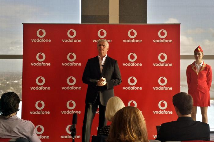 Vodafone CEO Bill Morrow announcing the Roam Like Home plans.