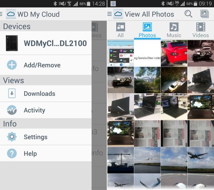 WD's My Cloud app allows you to log in to the NAS while connected via Wi-Fi or through the mobile network. You can use it to access files on your NAS, such as the photos in our example.