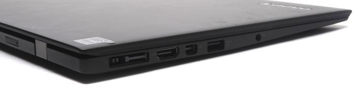 The left side has the power and docking connector, full-sized HDMI, Mini DisplayPort, USB 3.0, and the headset port. The rear has the SIM slot.