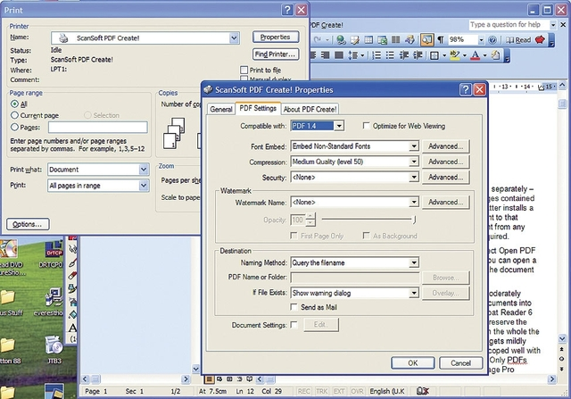 ScanSoft PDF Converter 2.0 Professional