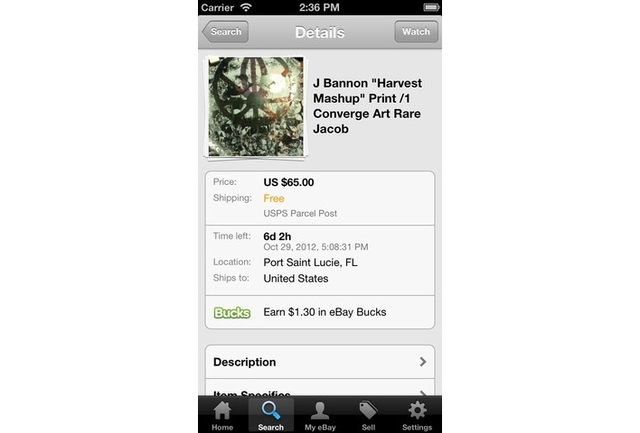 eBay for iOS