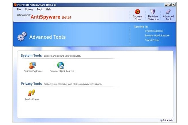 Microsoft AntiSpyware Beta1