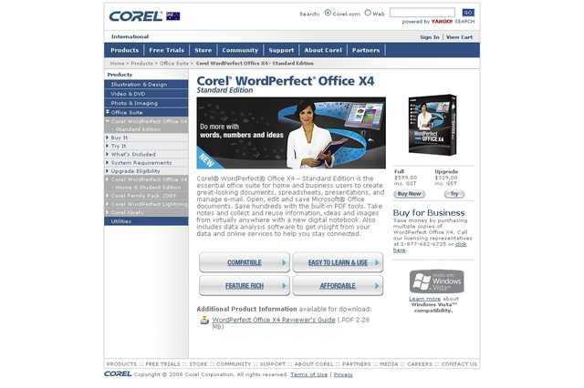 Corel  WordPerfect Office X4 Standard Edition