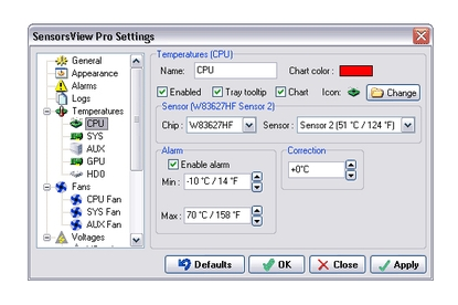 STV Software SensorsView Pro 3.2