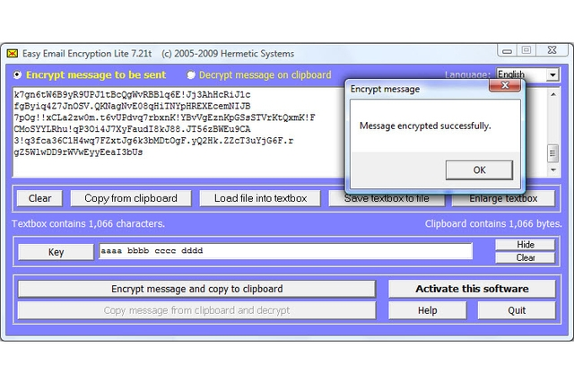 Hermetic Systems Easy Email Encryption Lite