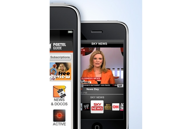 Telstra Corporation Mobile Foxtel iPhone app